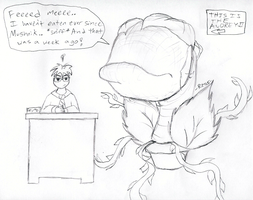 The Cutest Audrey II Line EVER by R2ninjaturtle
