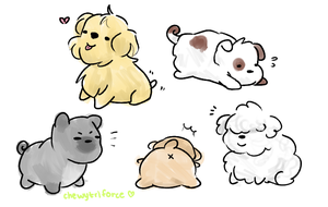 Puppies by chewytriforce