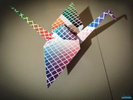 CMYK PaperCrane by IraLeeDesign by kaicho20