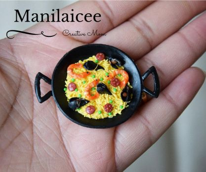 Paella miniature Food by Manilaicee