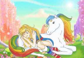 Rainbow Sleeping On Starlite by JoeyAngel