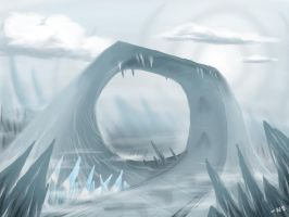 Ice World Race Track by SquidMantis