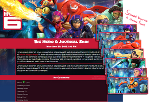 Big Hero 6 Journal Skin by A-queenoffairys