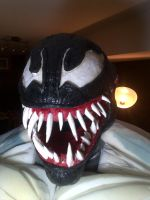 Venom  costume - the mask wip by mongrelman