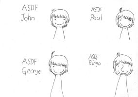 Asdf Beatles! by MikaTheBlueKitty