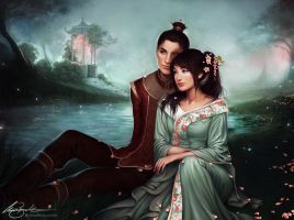 Zuko + Toph by Charlie-Bowater