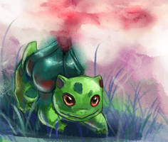 001 - Bulbasaur by GlassPanda