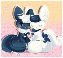 Meowstic Love by Midna01