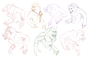 4/4/15 Free Full Moon Sketches by Madiswain