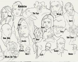Buffy's Final Year with Names by LiamDoodles