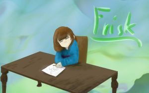 Undertale Drawing | Frisk drawing by DiamondCry