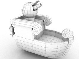 Mini boat 3d (wip) by SFalkon