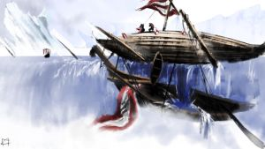 Vikings on the edge of the world by F4celessArt