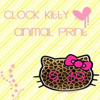 Hello Kitty Clock Animal Print by SriitaDeWatt