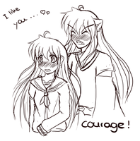 InuKag Week -  Courage by Yuzuha90