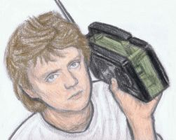Roger Taylor listening to the radio by gagambo