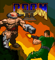 Doom II pixel art by Kracov