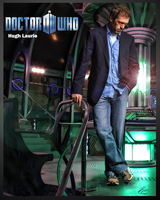 Hugh Laurie Dr Who in Tardis by PZNS