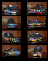 My Colored Vans -Left Foot- by WhiteWolf12