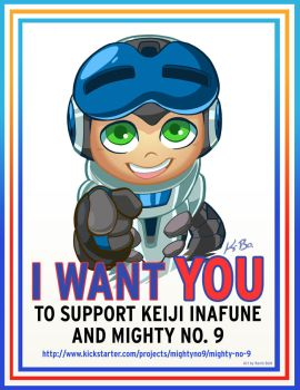 'I Want YOU' to support Mighty No. 9 by kevinbolk