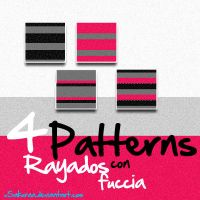Patterns Rayados con fuccia by xsakuraa