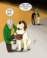 NCIS_Tony the loyal St.Bernard by Saisoto