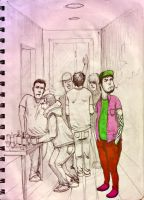 people sketches 2 by RusRed
