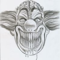 Ugly Clown Joker Design by 2Face-Tattoo