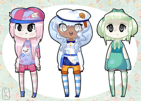 Chibi Girl Adopts- Open/Points by CinammonAdopts