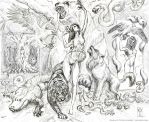 Feralia summons animals in the forest by artscientific