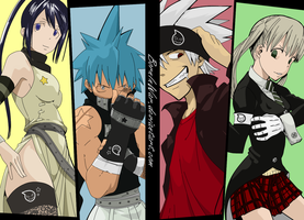 Duo: Black Star/Tusbaki and Maka/Soul Eater by BornInWar
