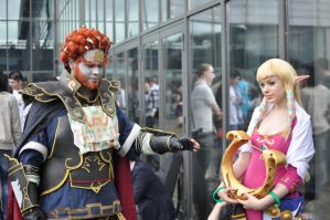 Oh no ! Ganondorf wants to steal Zelda's Lyre !! by Narayu