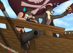 Pirate buddies by FourDirtyPaws