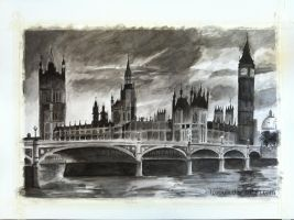London City Scenery - India Ink by LPSoulX