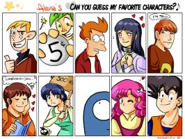 Favorite characters meme by Aleccha