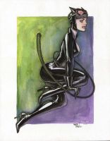 Cat Watercolor by MarioChavez