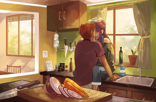 eight o'clock in the morning by caephuier
