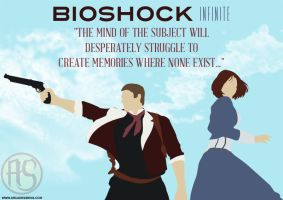 Booker And Elizabeth: BioShock Infinite Print by ArcadeSirens