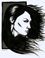 Native Woman Profile Drawing by RNABrandEnt