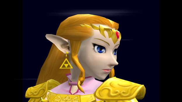 Zelda (Smash) Trophy Closeup SSBM 3 by SuperMario811