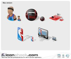 NBA web icons by Iconshock