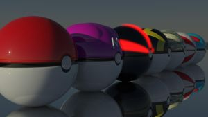 Pokeballs Together by Fluxee