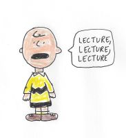 Charlie Brown - LECTURE, LECTURE, LECTURE by dth1971