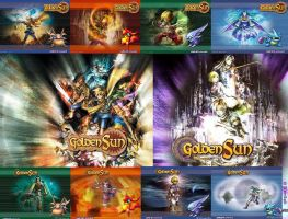 Golden Sun Combination by WaveFlash