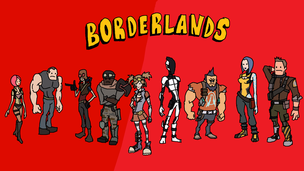 Borderlands 1 and 2 MSpaint by San9afis