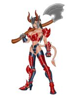 Demoness Warrior-Color by EduardoHerrera