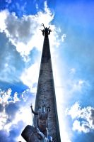 triumphal column moscow HDR by Skellah