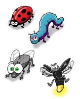 Cartoon bugs by SethWolfshorndl
