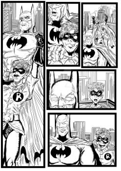 Batman and Robin sequential artwork page 2-2017 by brianrobinson