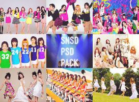 SNSD PSD PACK by ajikaji